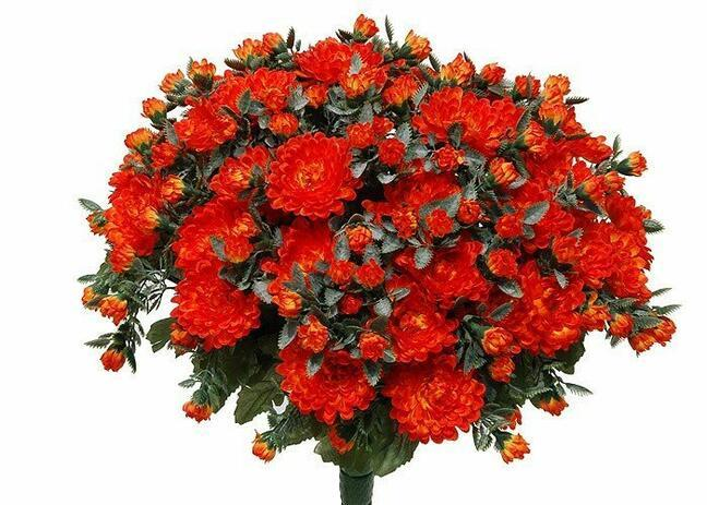 Artificial bouquet Chrysanthemum orange 35cm