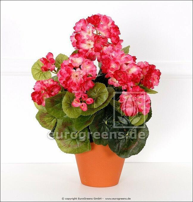 Artificial bouquet Geranium light-pink 40 cm