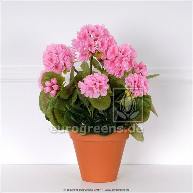 Artificial bouquet Geranium pink 40 cm