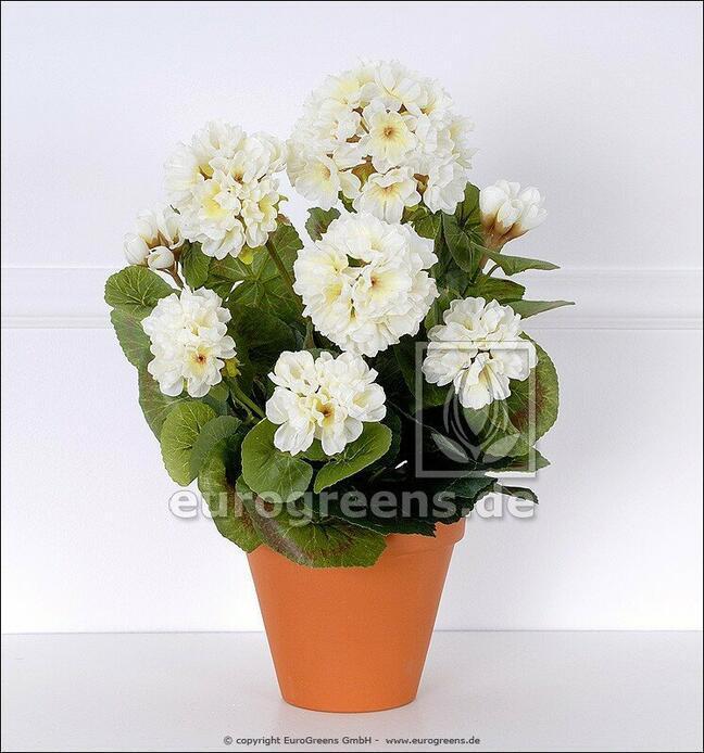 Artificial bouquet Geranium white 40 cm