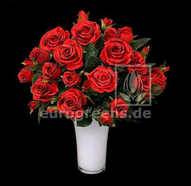 Artificial bouquet of red roses 50 cm