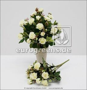 Artificial bouquet of roses white 25 cm