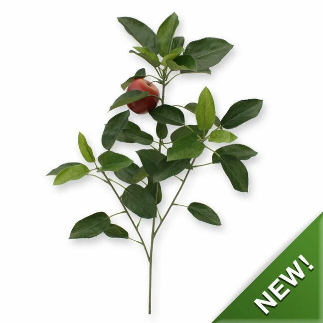 Artificial branch Apple tree with apple 72 cm
