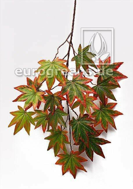 Artificial branch Autumn green maple 80 cm