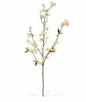 Artificial branch Cream cherry 120 cm