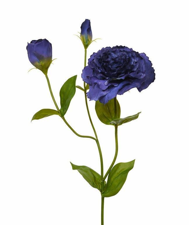 Artificial branch Eustoma blue 80 cm
