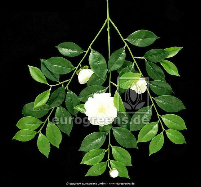 Artificial branch Gardenia with flowers and buds 55 cm
