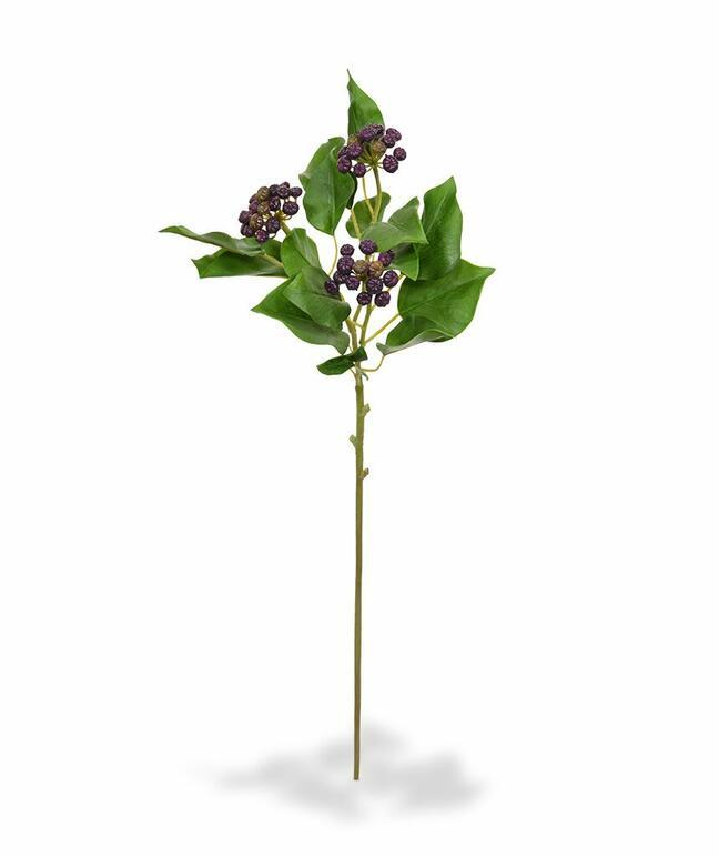 Artificial branch Holly holly knurled blue 60 cm