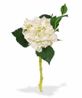 Artificial branch Hydrangea white 38 cm
