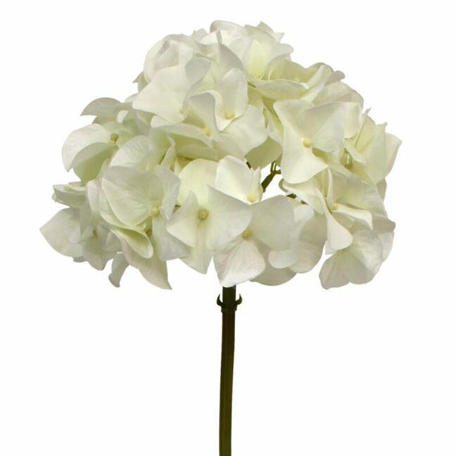 Artificial branch Hydrangea white 50 cm
