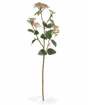 Artificial branch Kalina laurel leafy red 81 cm