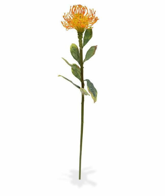 Artificial branch Leucadendron orange 60 cm