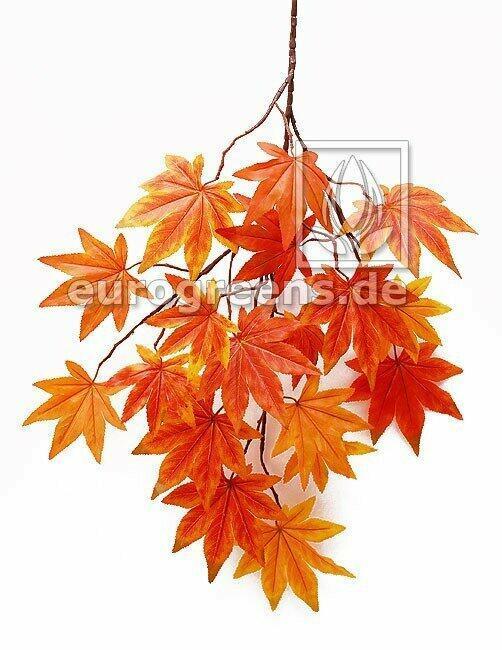 Artificial branch Maple orange-red 80 cm