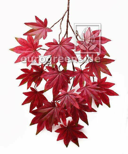 Artificial branch Maple reddish-brown 80 cm