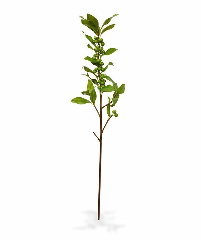 Artificial branch of Holly 75 cm