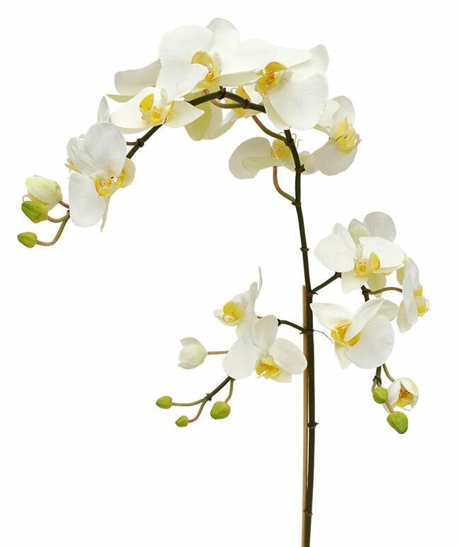 Artificial branch of Orchid white 110 cm