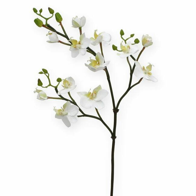 Artificial branch of Orchid white 60 cm