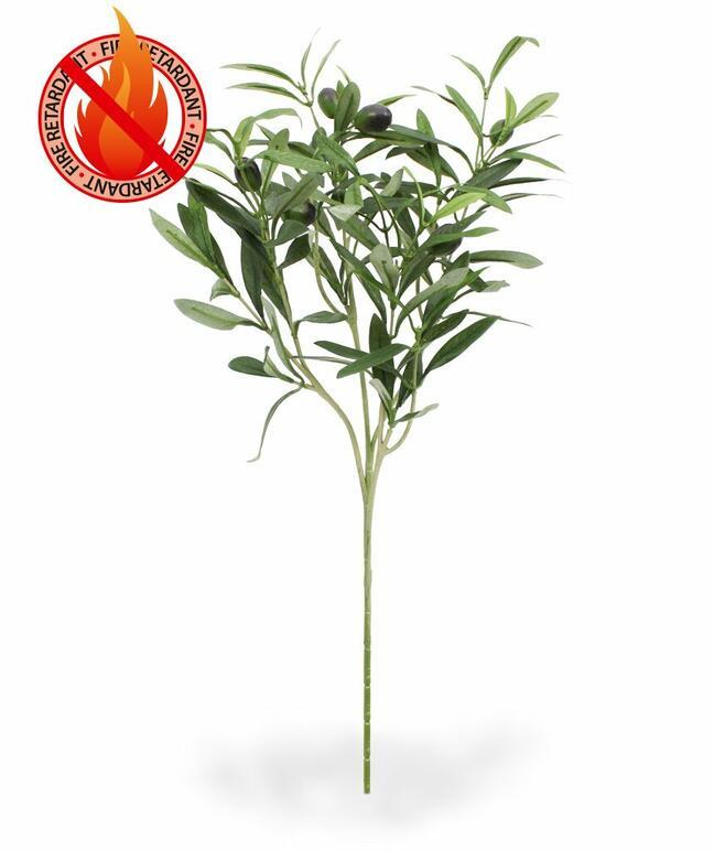 Artificial branch Olive tree with olives 54 cm