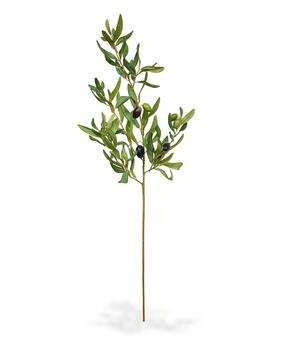 Artificial branch Olive tree with olives 85 cm