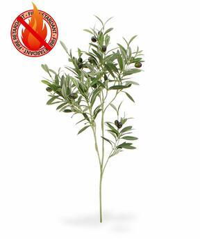 Artificial branch Olive tree with olives 90 cm