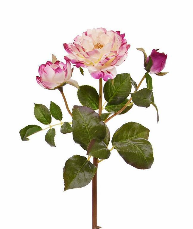 Artificial branch Pink rose 50 cm