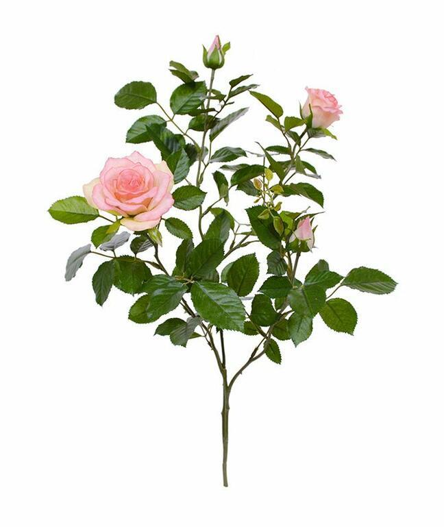 Artificial branch Pink rose 70 cm