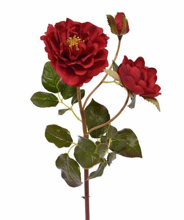 Artificial branch Red rose 50 cm
