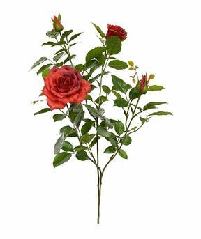 Artificial branch Red rose 70 cm