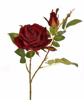 Artificial branch Rose burgundy 60 cm