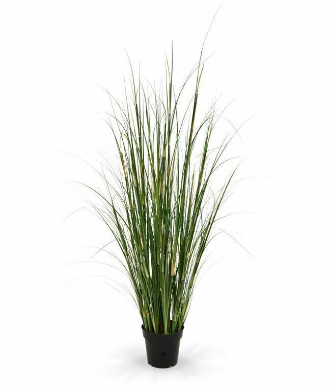 Artificial bundle of bamboo grass in a flowerpot 80 cm