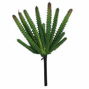 Artificial cactus dark green 21 cm