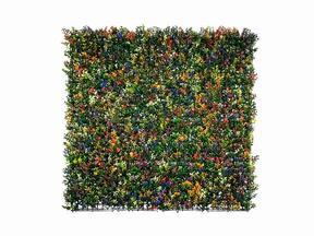 Artificial flower panel Buxus multicolored - 50x50 cm