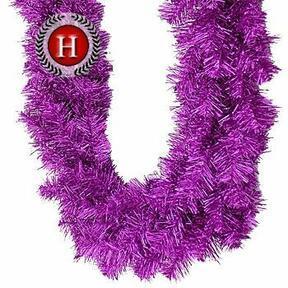 Artificial garland Glittering pink fir 300 cm
