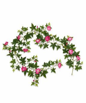 Artificial garland Petunia pink 180 cm