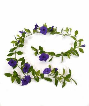 Artificial garland Petunia purple 180 cm