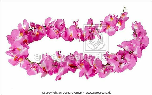 Artificial garland Pink Orchid 200 cm