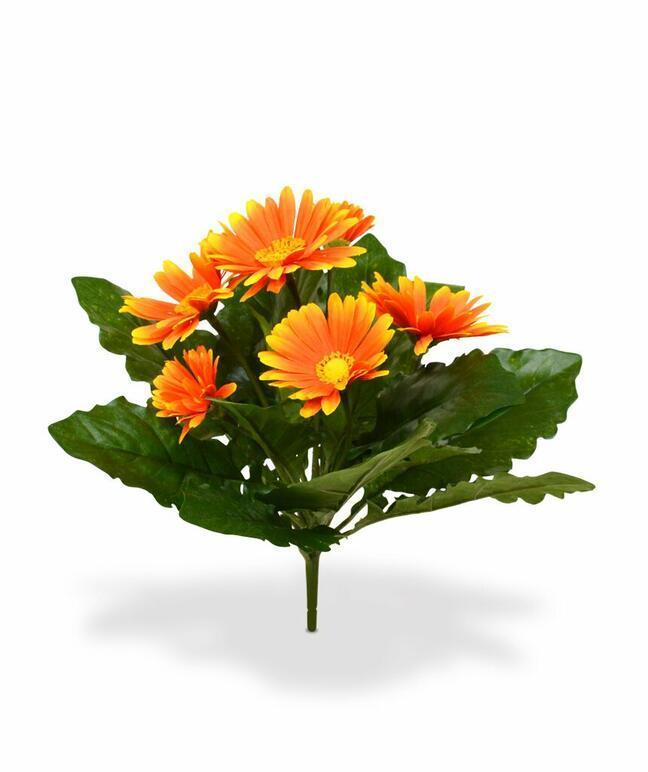 Artificial Gerbera plant orange 30 cm