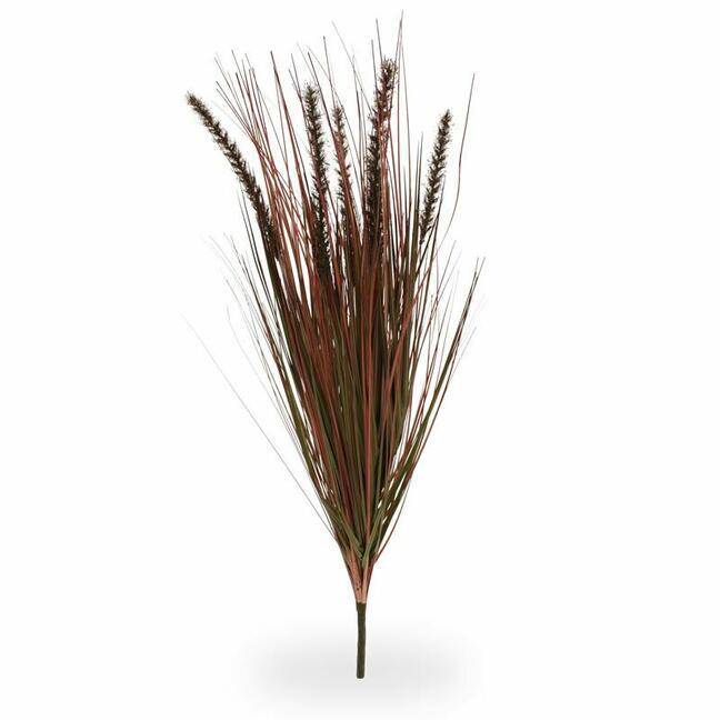 Artificial grooving bundle of grass Perovec burgundy 75 cm