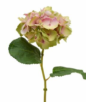 Artificial hydrangea flower pink 45 cm