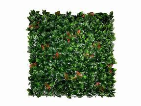 Artificial leaf panel Photinia - 50x50 cm