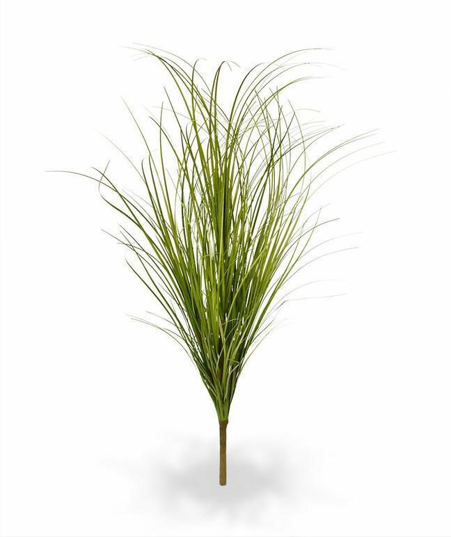 Artificial light-green grooving bundle of grass 60 cm