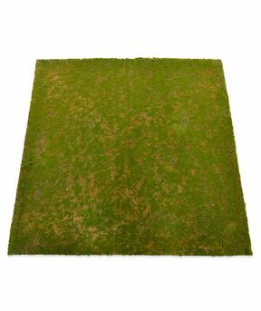 Artificial moss mat 100 x 100 cm - green