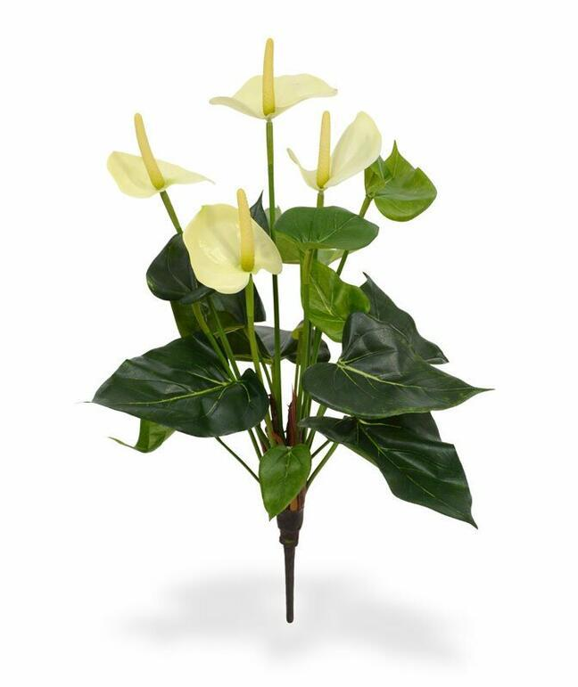 Artificial plant Anthurium white 40 cm