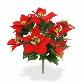 Artificial plant Christmas rose red 40 cm