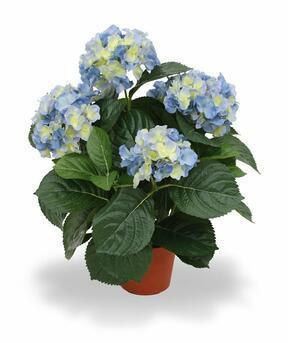 Artificial plant Hydrangea blue 45 cm