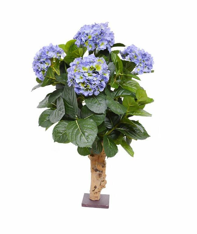 Artificial plant Hydrangea blue 65 cm