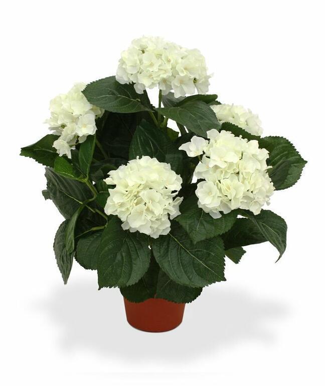 Artificial plant Hydrangea cream 45 cm