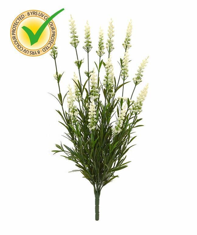 Artificial plant Lavender white 50 cm
