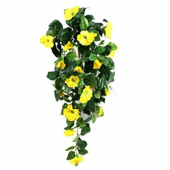 Artificial tendril Petunia yellow 80 cm