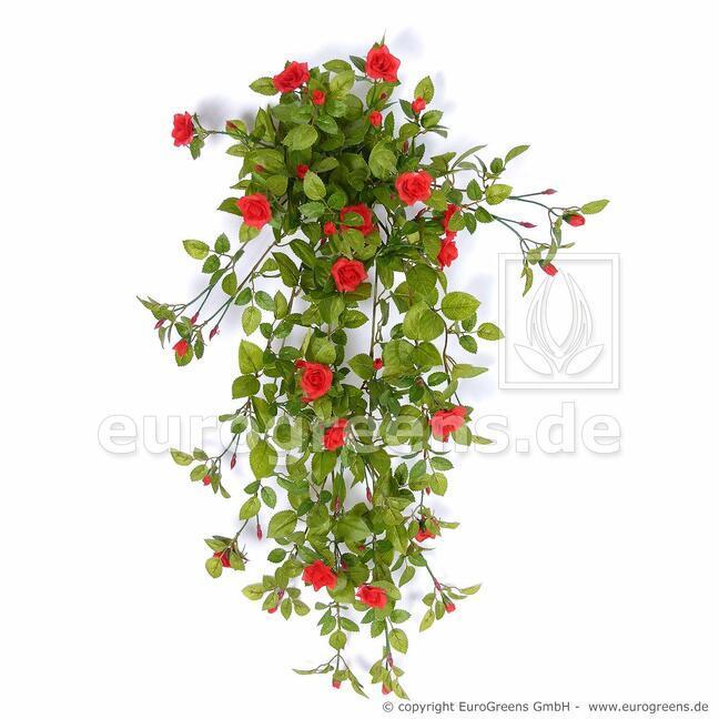Artificial tendril Rose red 85 cm